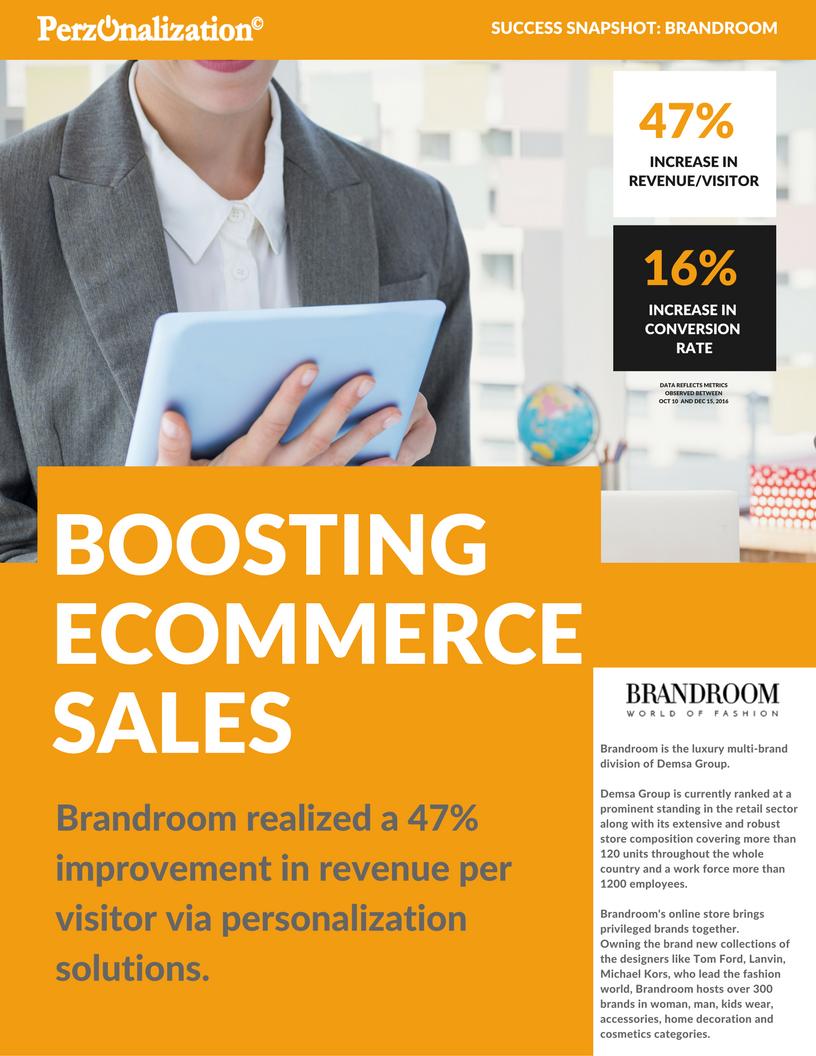 brandroom e-commerce personalization case study