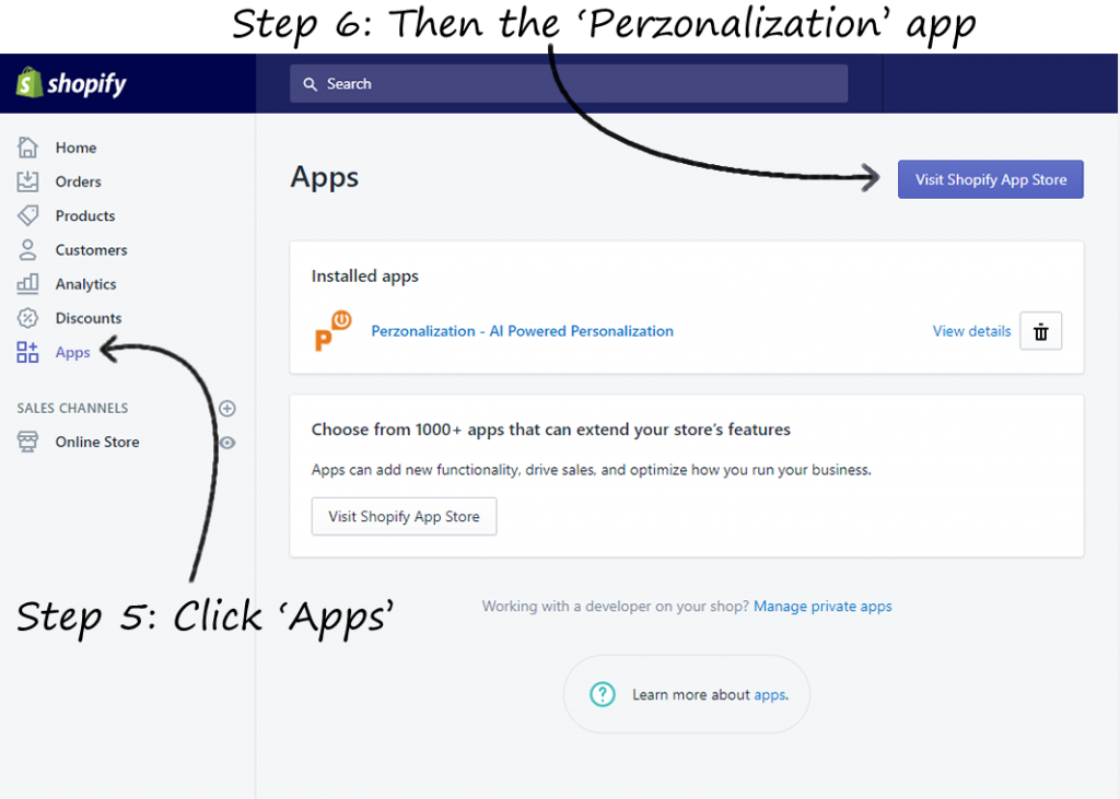 Shopify App for Personalized Product Recommendations   Perzonalization