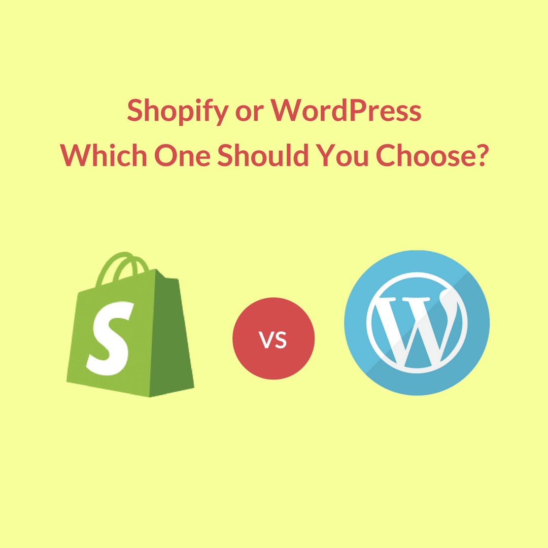 When Setting up an eCommerce store, a very crucial choice is going to be Shopify vs WordPress, which eCommerce platform to build your store on.