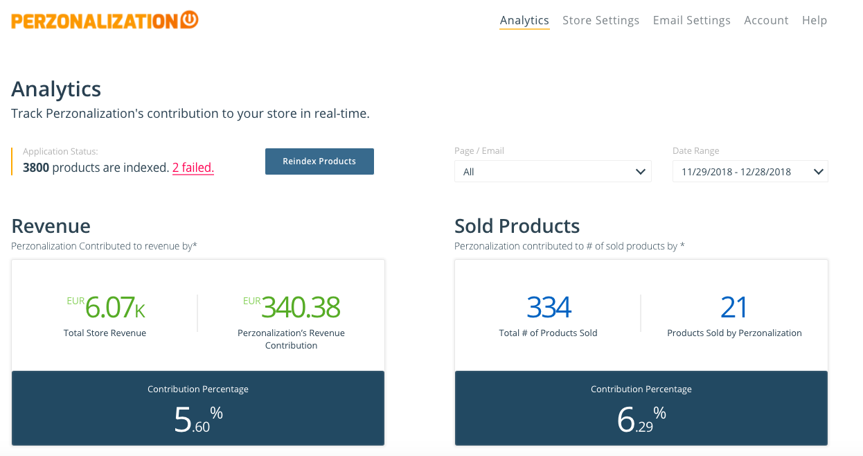 Perzonalization Shopify personalization app provides personalized recommendations of related, cross sell and popular products.