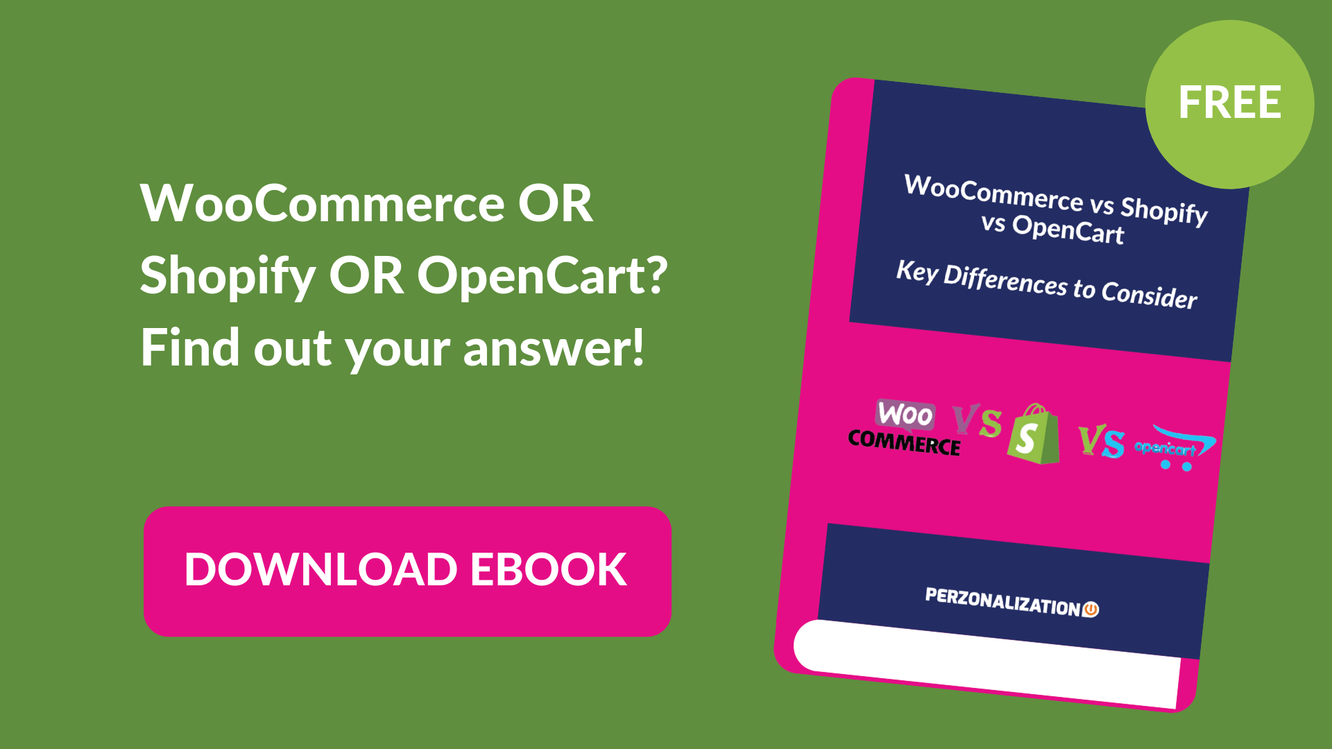 Download your free eBook: WooCommerce or Shopify or Opencart?