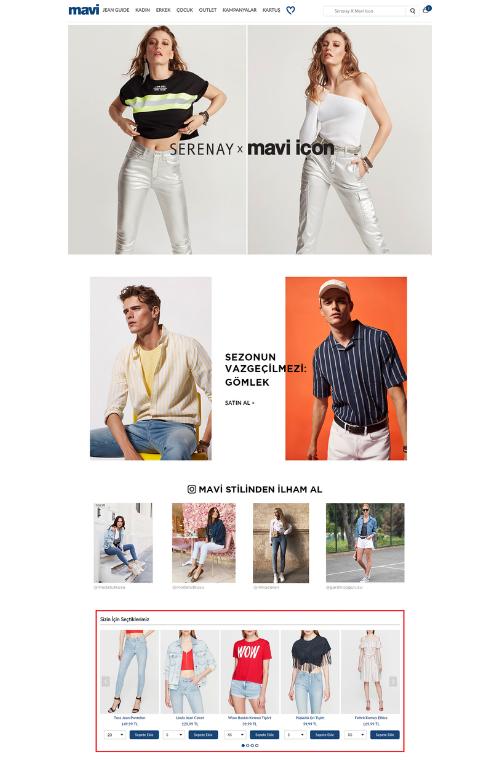 MAVI.com homepage