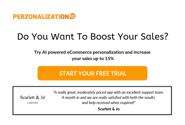 Start your free trial: AI powered ecommerce personalization