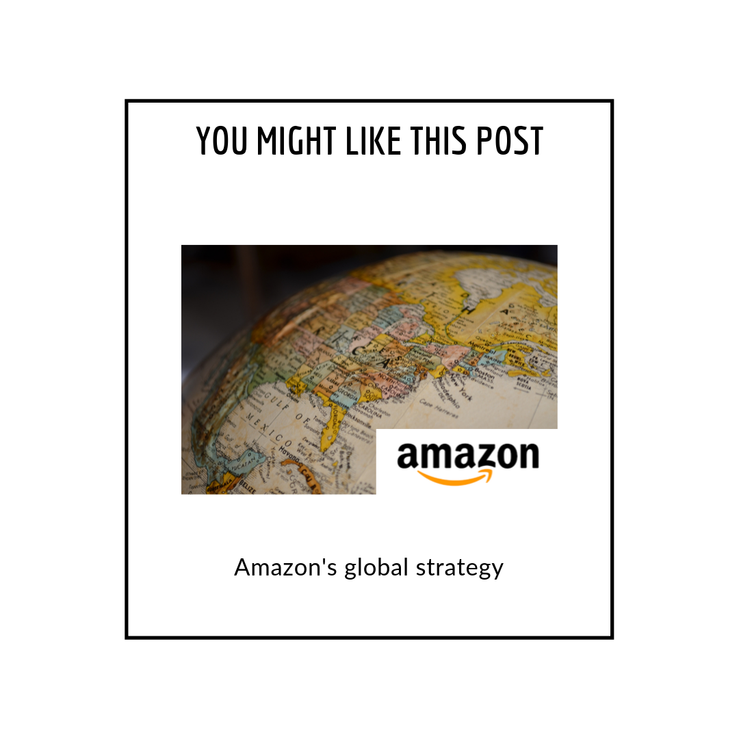 Amazon's global strategy - related posts popup