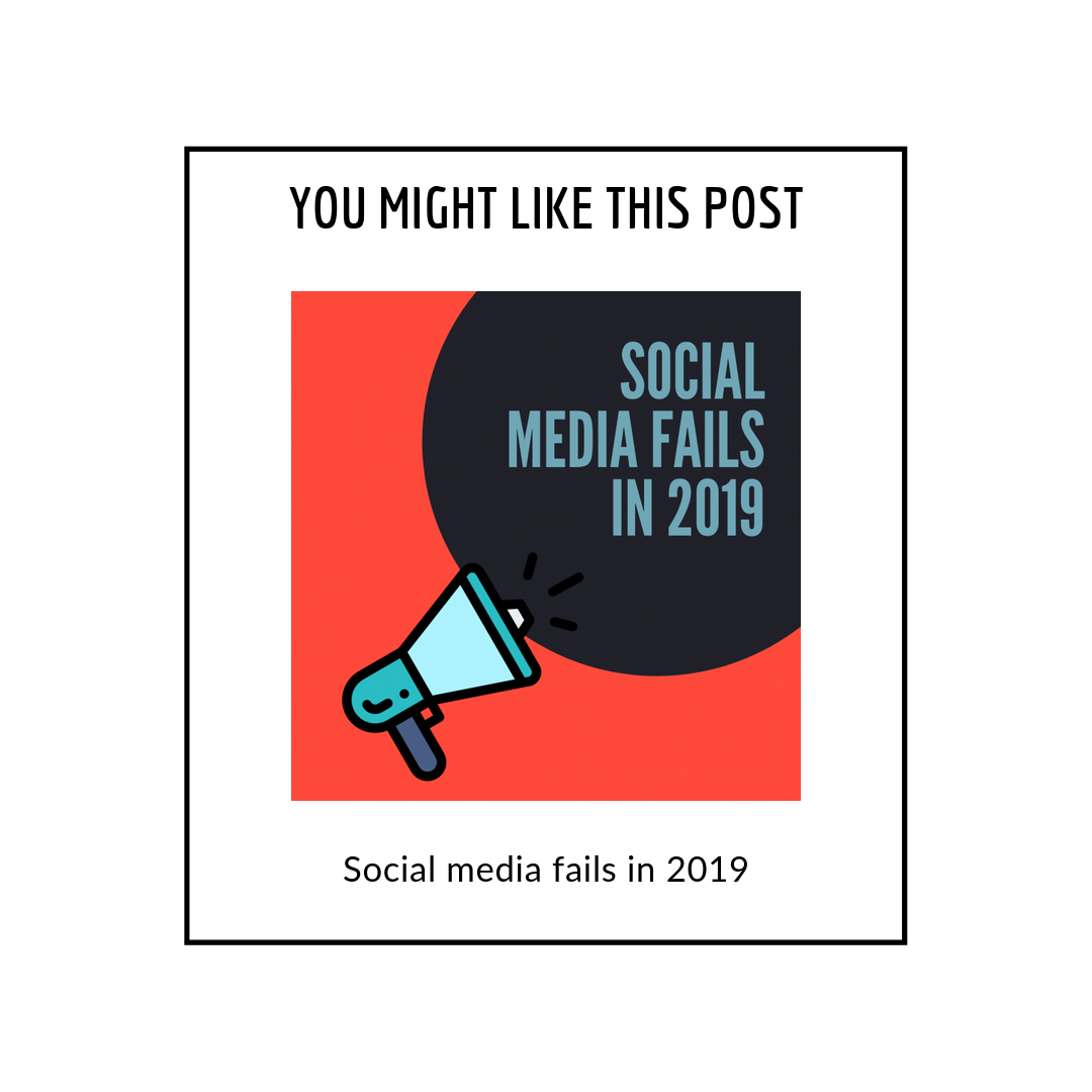 Social media fails in 2019 - related posts popup