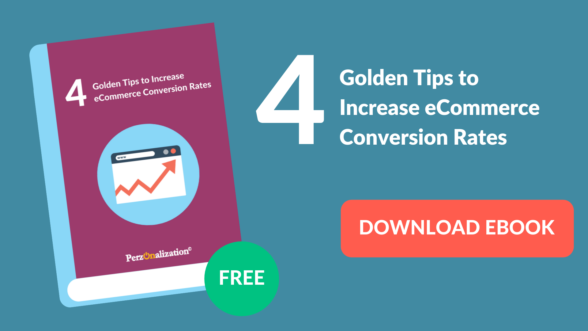 Download free eBook: Tips to increase eCommerce Conversion Rates