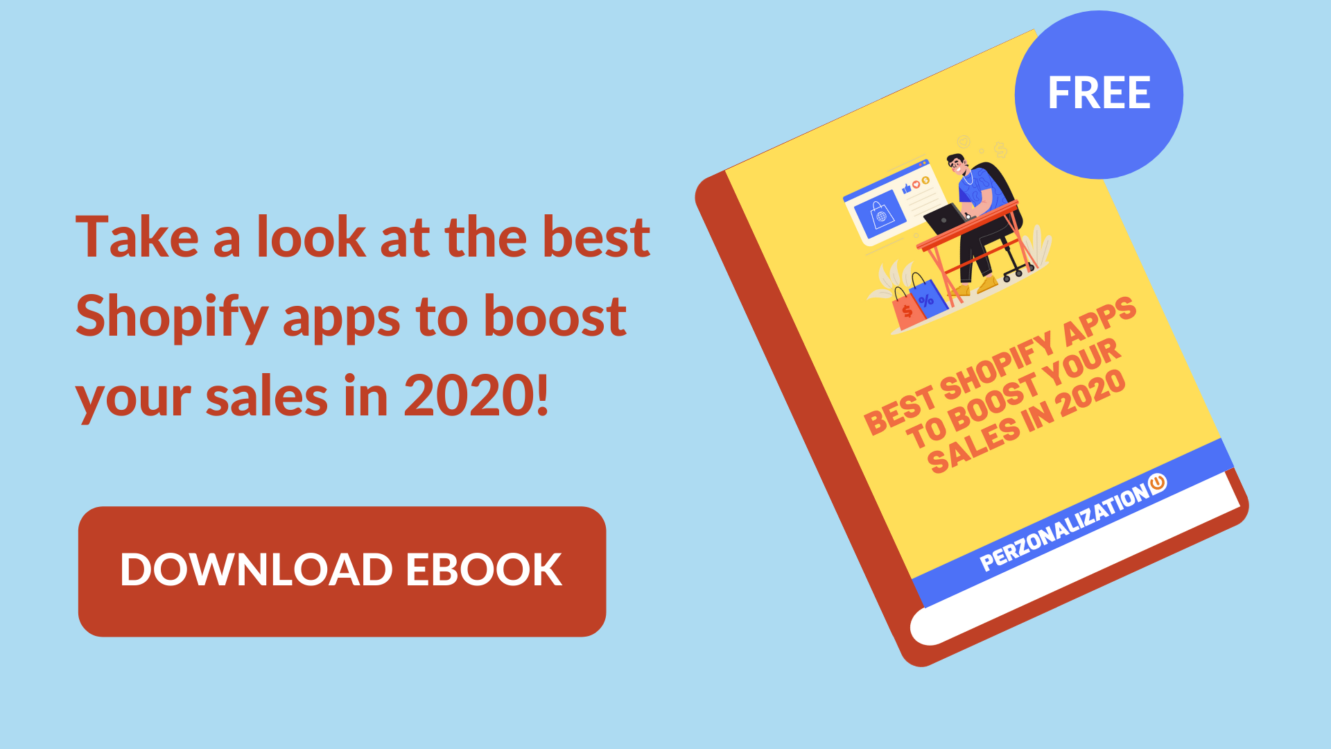 Best Shopify Apps in 2020: Free eBook popup