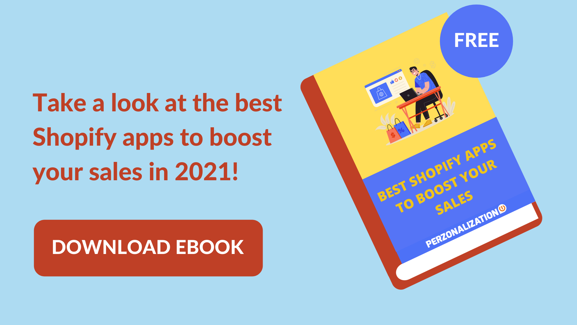 Best Shopify Apps in 2021: Free eBook popup